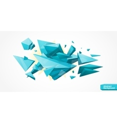 Bright polygonal geometrical background vector image