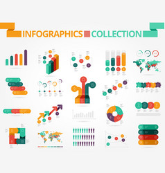 Business and social infographics vector