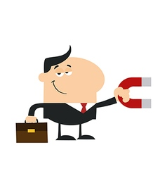 Businessman Attracting Money vector image