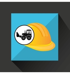 Construction truck concept helmet design vector