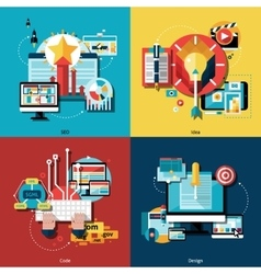 Creative Project Icons Set vector image