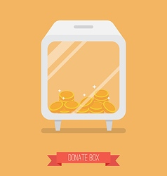 Donate box flat icon vector
