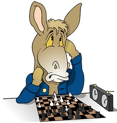 Donkey chessplayer vector