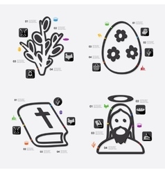 easter infographic vector image