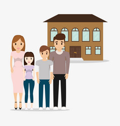 Family home structure image vector