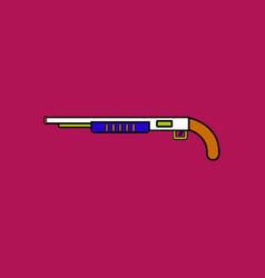 Flat icon design collection military shotgun vector