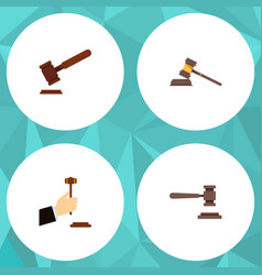Flat icon lawyer set of legal law justice and vector