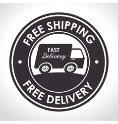 Free shipping fast delivery banner vector