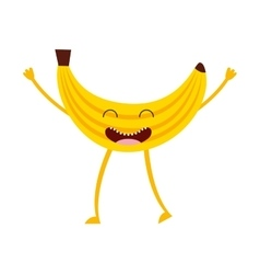 fruit character cute icon vector image