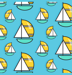 Holiday voyage pattern summer water trip vector