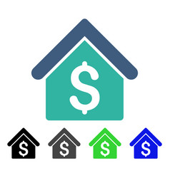 House rent flat icon vector