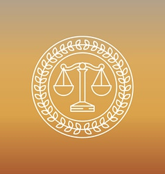 Juridical and legal logo and sign vector