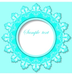 Paper round frame with floral pattern vector image vector image