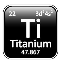 Periodic table element titanium icon vector