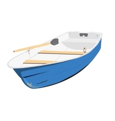 Rowing boat vector