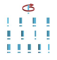 Sheet of sprites rotation of cartoon 3d vector