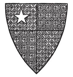 Shield of robert de vere are close advisor of vector