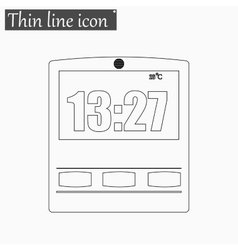 Simple of clock icon Style vector image vector image