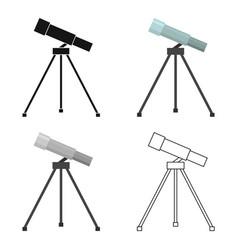 Telescope icon cartoon single education icon from vector