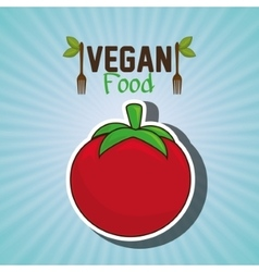 vegan food healthy fork vector image