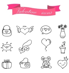 Valentine element of icon collection vector