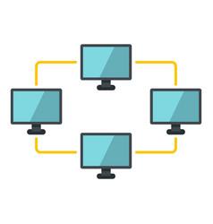 exchange of data between computers icon isolated vector image