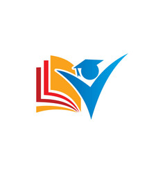 student education logo vector image