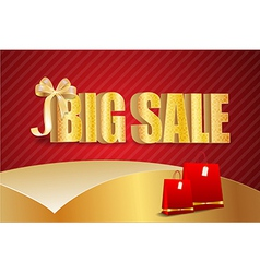 3d big sale made of pure beautiful luxury gold vector