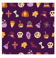 Seamless halloween pattern vector