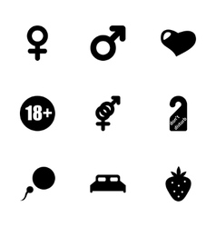 Sex icon set vector