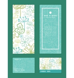 Mysterious green garden vertical frame vector