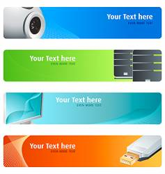 High-tech banner set vector