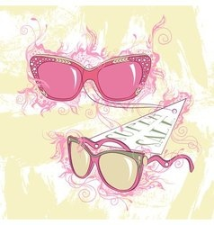 Fashion of two sunglasses vector