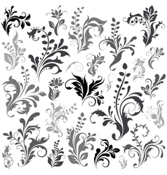 Swirly design elements vector