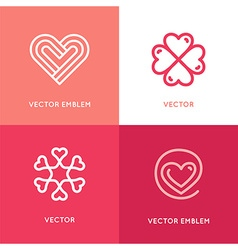 set of logo design elements and templates vector image