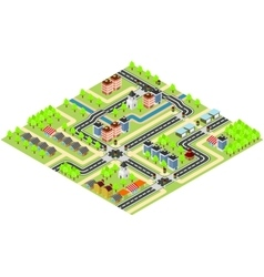 City isometric map vector