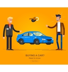 Design concept of choice and buying a car vector