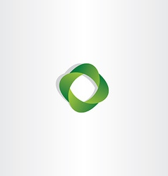 Eco green gradient logo business symbol vector