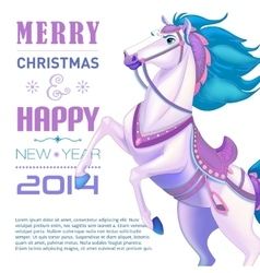 New year card for year of the horse vector