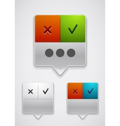Modern dialog box icon vector