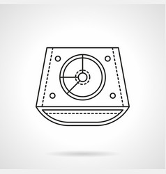 Abstract dj mixer flat line icon vector