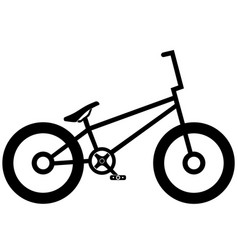 Bicycle icon on white background eps 10 vector