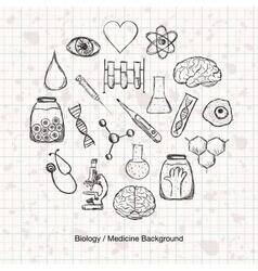 Biology or medicine science background vector