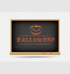 blackboard halloween drawing vector image