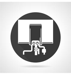 Boiler black round icon vector