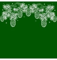 Border of pinebranches vector image vector image