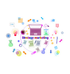 business marketing strategy development concept vector image