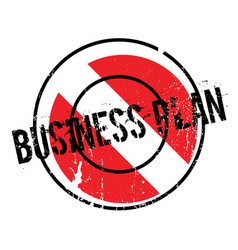business plan rubber stamp vector image vector image