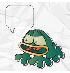 Cartoon Frog paper background vector image