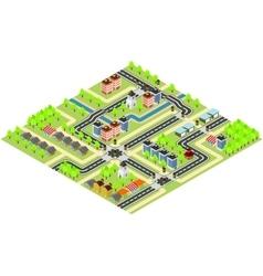 City isometric map vector